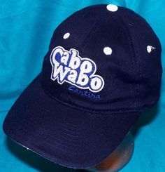Sammy Hagar Cabo Wabo Tequila Cantina Adjustable Navy Blue Baseball Hat Cap…