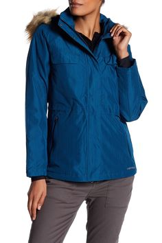 9d39eb62b2 Bandol Faux Fur Trim Water Resistant Parka by Merrell on  nordstrom rack  Hiking Gear