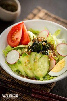 Wafu Dressing (Japanese Salad Dressing) Recipe on Yummly Japanese Salad, Japanese Dishes, Japanese Food, Japanese Kitchen, Japanese Style, Easy Japanese Recipes, Asian Recipes, Ethnic Recipes, Nasi Lemak
