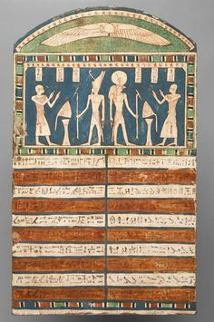 Stele of the priest-Ha has | | 26th Dynasty, around 640 BC v.  Kunsthistorisches Museum Wien