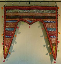 ♥ Indian TAPESTRY Door Wall Hanging Ethnic Patchwork Multi Toran Embroidered ♥