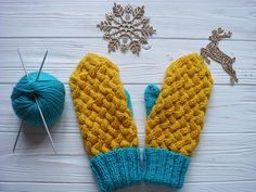 Wicker Swedish Cable Mittens | These brightly-colored knit mittens will turn any gray day upside down.