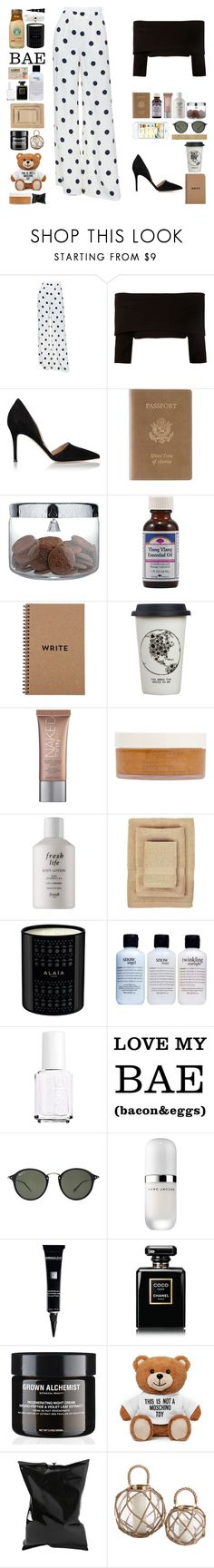 """""""Sem título #12002"""" by nathsouzaz ❤ liked on Polyvore featuring Ralph Lauren Collection, Dorothee Schumacher, Gianvito Rossi, Royce Leather, Alessi, Ylang Ylang, Natural Life, Urban Decay, African Botanics and Fresh"""