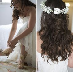 Flower crown - coiffure mariage - couronne fleurs gypsophile