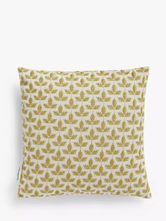 Sanderson National Trust Felix Cushion at John Lewis & Partners Sanderson Fabric, Shell Station, John Lewis Shops, Collection Services, Green Rooms, Cushion Filling, National Trust, Cushions, Throw Pillows