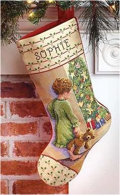 Christmas Morning Counted Cross Stitch Stocking Kit