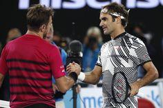 V nedeľu bude bojovať o rekordný 18. titul z podujatí veľkej štvorky proti víťazovi súboja medzi Rafaelom Nadalom a Grigorom Dimitrovom. Roger Federer, Button Down Shirt, Men Casual, Mens Tops, Shirts, Fashion, Switzerland, Moda, Dress Shirt