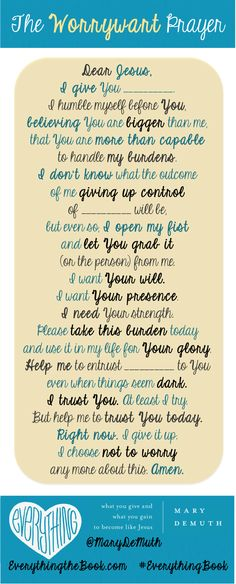 I just love this prayer!!