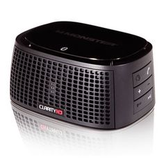 Monster Power ClarityHD Precision Micro Bluetooth Speaker 100 (Black) This little speaker has astonishingly big sound! Shops, Black Desk, Boombox, Bluetooth Speakers, Macbook, Ipod, Cool Things To Buy, The 100, Gadgets