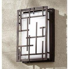 """Modern Lines 9 1/4"""" High Bronze LED Outdoor Wall Light"""