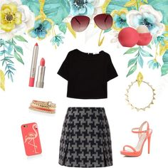 skirt by paulinka-liskova on Polyvore featuring polyvore fashion style MANGO Carven River Island House of Harlow 1960 White House Black Market MINKPINK Kate Spade Ilia Eos