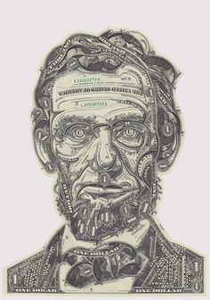 The Art of the Dollar: Meticulous Currency Collages by Mark Wagner   via Designspiration