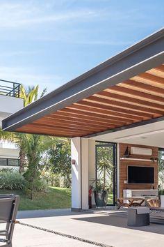 Beton Design, Design Exterior, Terrace Design, Backyard Patio Designs, Outdoor Pergola, Diy Pergola, Modern House Design, Architecture Design, House Plans
