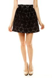 Scramble Lace Mini Skirt by DANIELA CORTE
