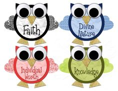 CC Designs: Young Women Value Owls - Free download!
