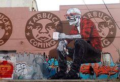 """LA MUERTE DEL BARRIO""%0AArtist: MTO %0AFor Art Basel%0ALocation: Wynwood, Miami."