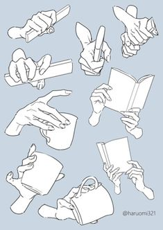 Hand pose reference for artists Drawing Techniques, Drawing Tips, Drawing Sketches, Drawing Hands, Hand Drawings, Drawing Lessons, Hand Drawing Reference, Art Reference Poses, Design Reference