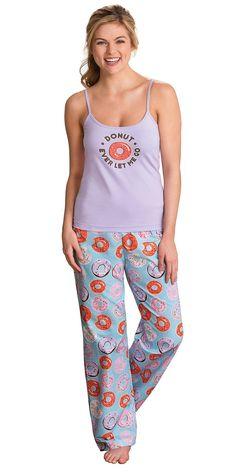 e6577ab63a Donut Ever Let Me Go. Adorable cotton jersey donut pajama set. Pajamas Women