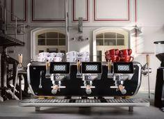"""Adriano's Storm 4000 espresso machine projects """"Barista Attitude""""at Host Milano"""