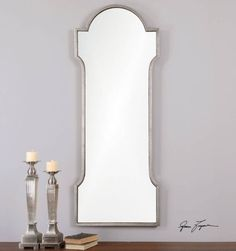 French-Tuscan-Style-Arched-Wall-Mirror-Foyer-Mantel-Antiqued-Metal-Frame
