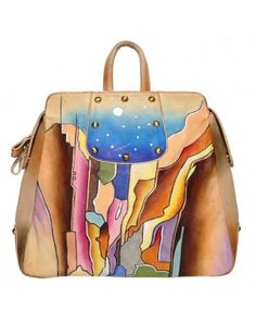 a59e24e189b0 100% Handpainted Genuine Leather Bag-Charisma - Articious Beautiful  Handbags