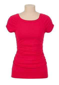 Cap Sleeve Ruched Sweater available at #Maurices