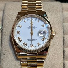 #Rolex #President #Day #Date In #18k #Gold – #2006 #With #Box And #Papers #Jewelry #The #Antiques #Room #Galway #Ireland Luxury Watches, Rolex Watches, Galway Ireland, 18k Gold, Antiques, Day, Room, Jewelry, Products
