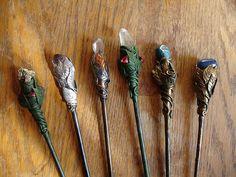 Hairsticks like magic wand, by polymer clay