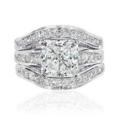 Diamond Wedding Rings Sets Sheera S Faux Diamond