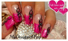 Makeup Tutorial Pink Nail Art Ideas For 2019 Pink Glitter Nails, Pink Nail Art, Fancy Nails, Nail Art Diy, Cute Nails, My Nails, Creative Nail Designs, Creative Nails, Nail Art Designs