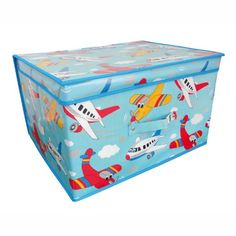 Children's Jumbo Planes Storage Chest / Toy Box