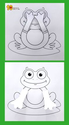 Peekaboo Frosch druckbare Handwerk - DIY and crafts Frog Crafts Preschool, Frog Activities, Free Preschool, Preschool Printables, Preschool Kindergarten, Giraffe Coloring Pages, Snake Crafts, Globe Crafts, Origami Fashion