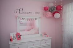 Princess Bedroom {Pink, Gray & White - Once Upon a Time}