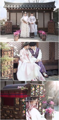 Traditional Hanbok Korean Pre-wedding Photoshoot Studio Set - Roi Studio, Traditional Costume, Outdoors