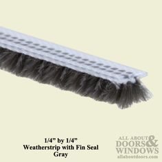 1 4 Inch By 1 4 Inch Weatherstrip With Fin Seal Gray Weather Stripping Door Weather Stripping Grey