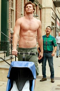 Baby Daddy! Tucker and Danny Wheeler with the stroller :D Derek Theler and Tahj Mowry