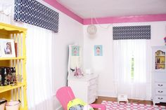Cornice boards tutorial made out of foam board.. cute and oh so easy!