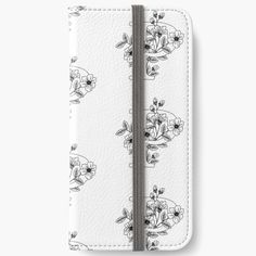 'Floral letter P' iPhone Wallet by GloriannaCenter Diy Wallet, Iphone Wallet Case, Floral Letters, V Neck T Shirt, Classic T Shirts, Card Holder, Lettering, Cards, Stuff To Buy