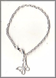 Butterfly Charm Silver Plated Bracelet/Anklet(16cm)  by MadAboutIncense - $7.50