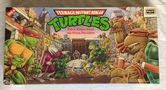 vintage 80s teenage mutant ninja turtles pizza power board game rose art tmnt from $45.0