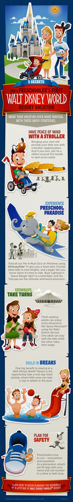 5 Secrets for a Preschooler's First Walt Disney World Resort Vacation! #DisneyKids #toddlers #vacation #tips #tricks