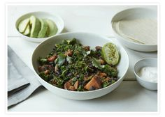 One-pan meal: Sweet Potato, Black Bean & Kale Skillet #goopmake