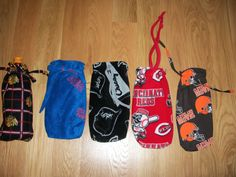 Wine Bottle Gift Bags Sports Patterns Chicago Cubs Chicago White Sox Cincinnati Reds  or Cleveland Browns
