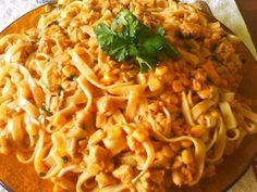 Imagem da receita Macarrão com estrogonofe de frango rápido e fácil