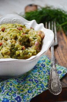 Cabbage with Bacon. Cabbage with bacon. (in Polish with translator) Bacon Fried Cabbage, Polish Recipes, Kfc, Summer Salads, Vegetable Recipes, Guacamole, Fries, Side Dishes, Food And Drink
