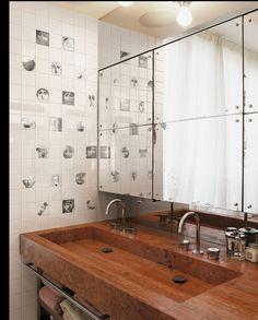 piastrelle ceramiche linea Tema e Variazione1, designer Piero Fornasetti.