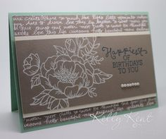 GDP#037 - Birthday Blooms colour challenge - Mint Macaron, Tip Top Taupe & Island Indigo. Kelly Kent - mypapercraftjourney.com. Birthday Bouquet, Productive Day, Stampin Up Cards, Birthday Cards, Birthdays, Bloom, Paper Crafts, Taupe, Indigo