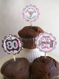 Cupcake Toppers - 80th Birthday Party theme.