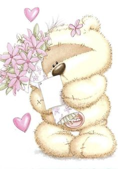 Just for YOU! With love, gentle hugs, prayers and blessings too! Tatty Teddy, Cute Images, Cute Pictures, Fizzy Moon, Moon Bear, Teddy Bear Pictures, Blue Nose Friends, Cute Teddy Bears, Bear Art
