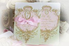 la pink paperie The blog for Paper Nosh: Laduree Inspired Mint Macaron Marie Antoinette Cameo Event Invitations #bridalshower #invitation